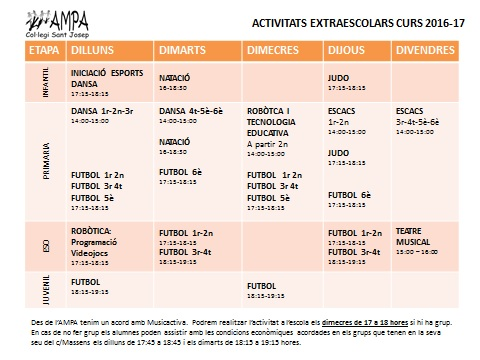 activ extraesc 16-17